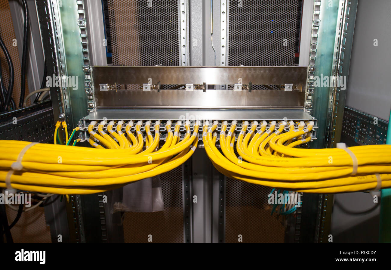 IT data center copper patch panel Stock Photo: 88476359 - Alamy
