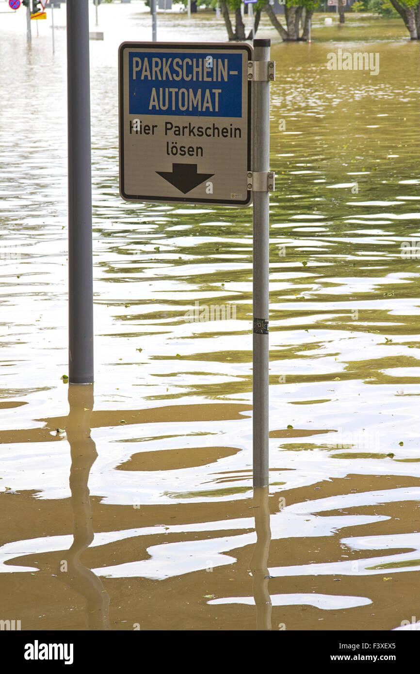 high water in dresden Stock Photo