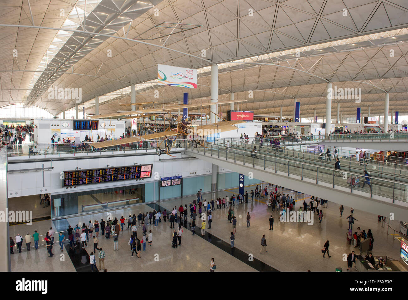 Hong Kong International airport. Stock Photo