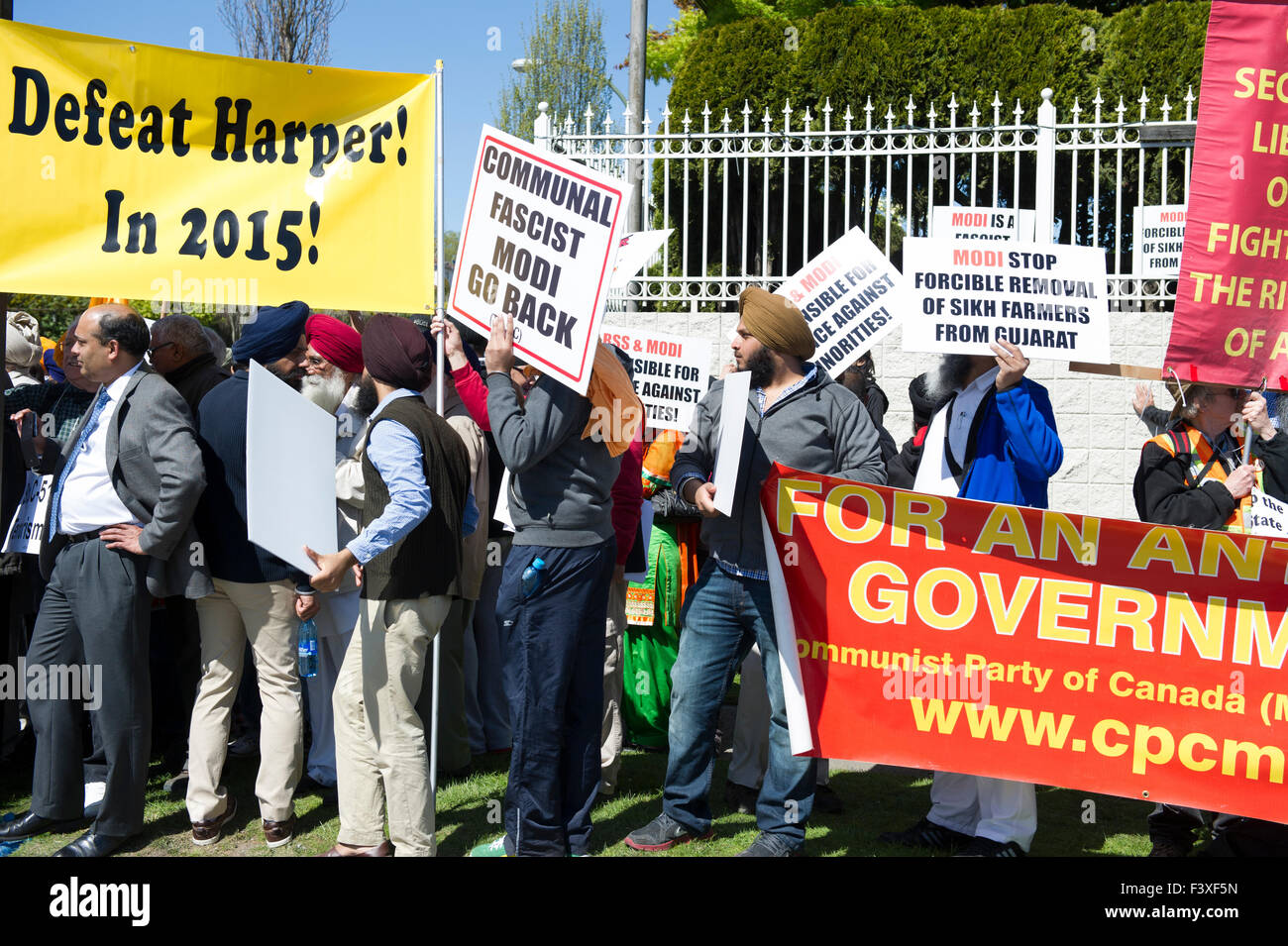 Canadian political protest, Vancouver British Columbia - Stock Image