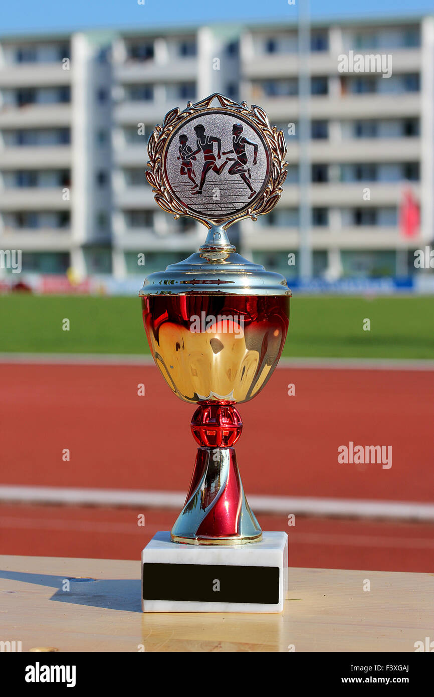 trophy for athletics - Stock Image