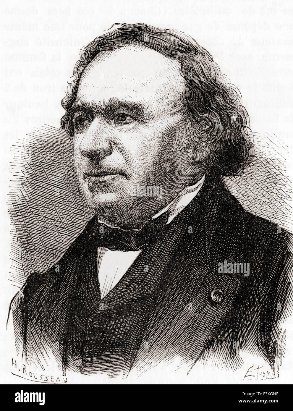 Jean Baptiste André Dumas, 1800 – 1884.   French chemist. - Stock Image