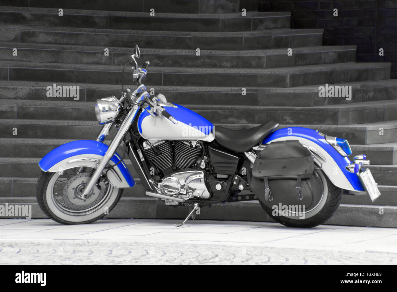 Motorbike in blue Stock Photo