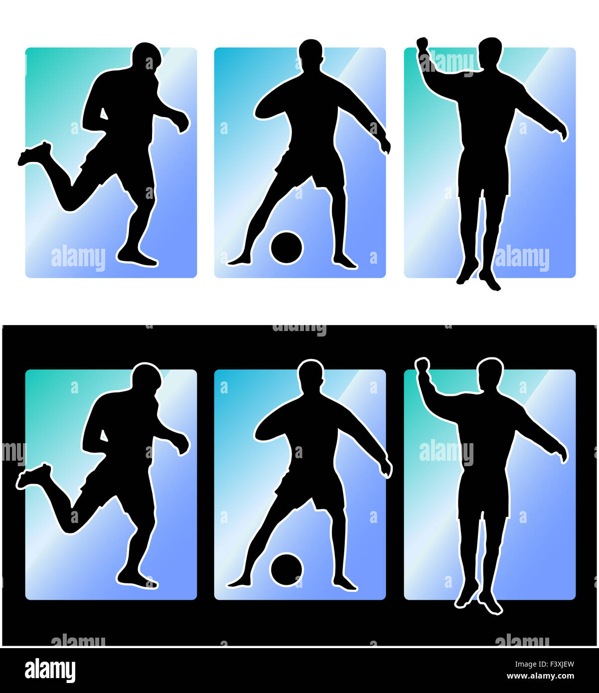 Soccer football players - Stock Image