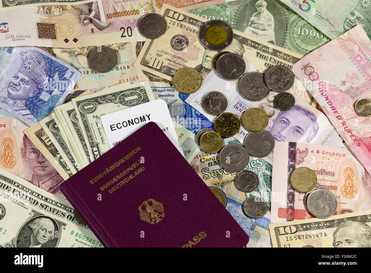 different versions to currency Stock Photo