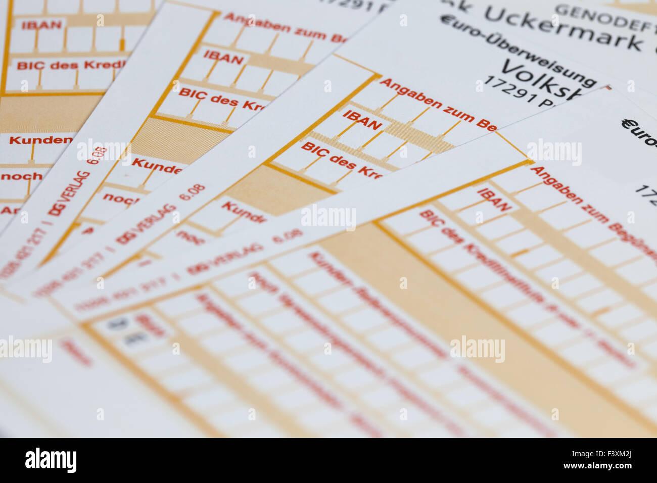 IBAN Transfer form Stock Photo: 88482314 - Alamy