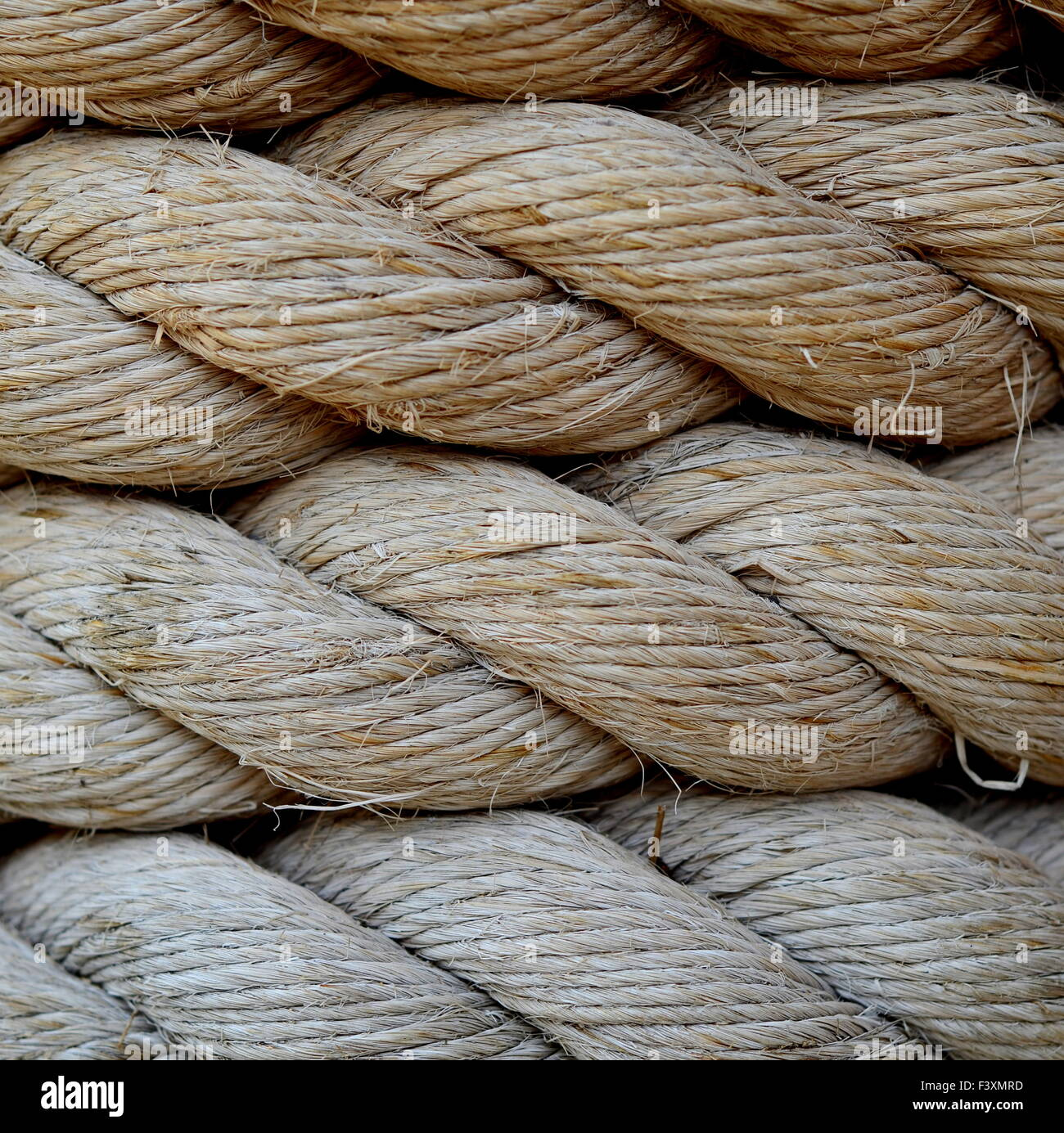 A Background Texture Of Grungy Old Rope Stock Photo