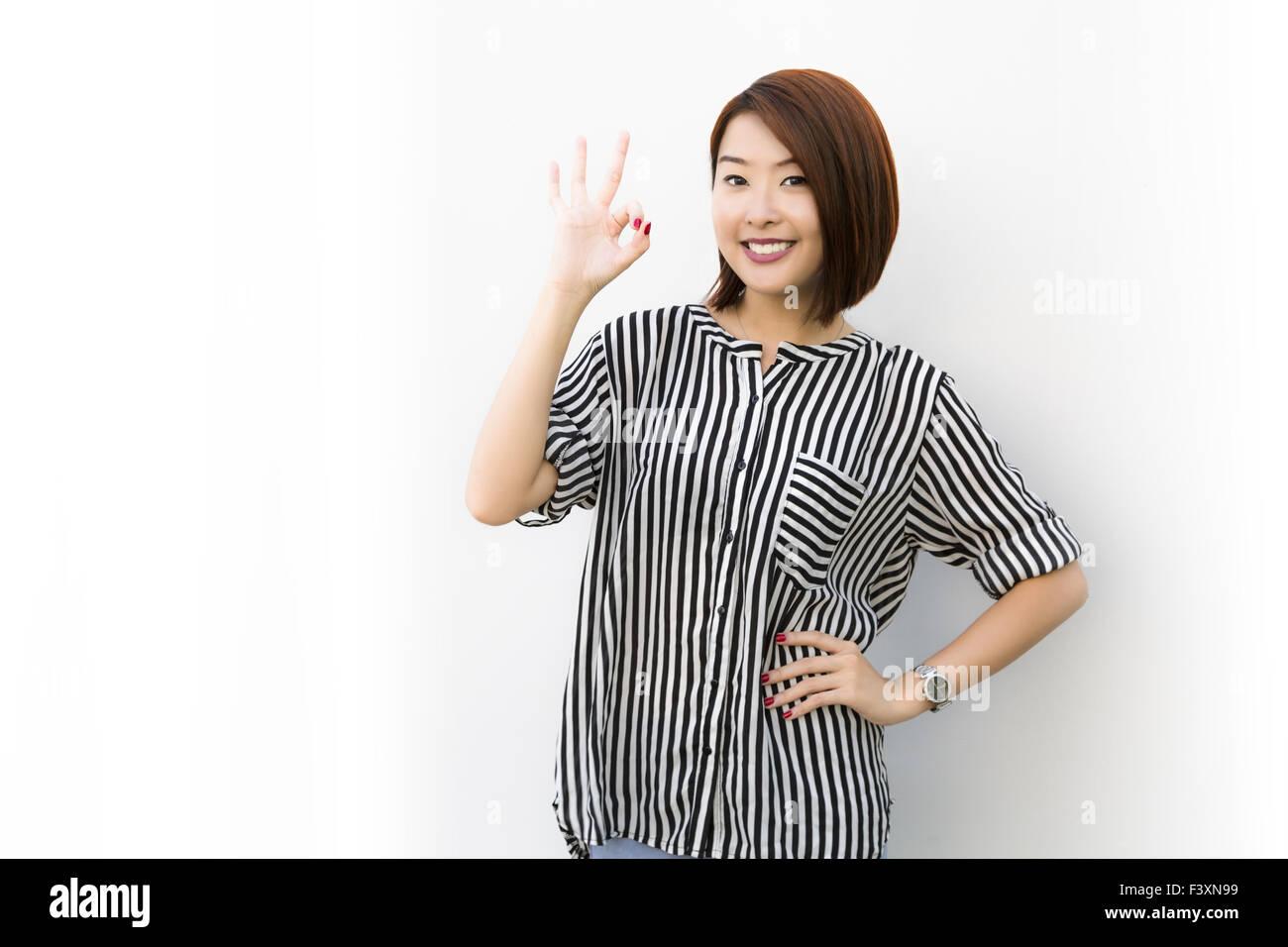 Okay lady - Stock Image