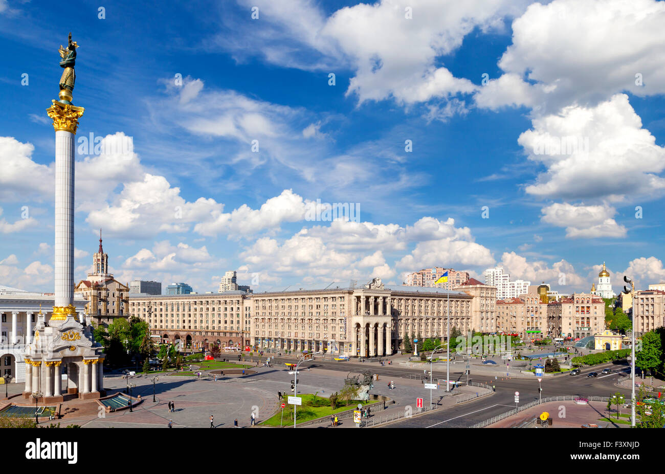 Central square of Kiev, Ukraine - Stock Image