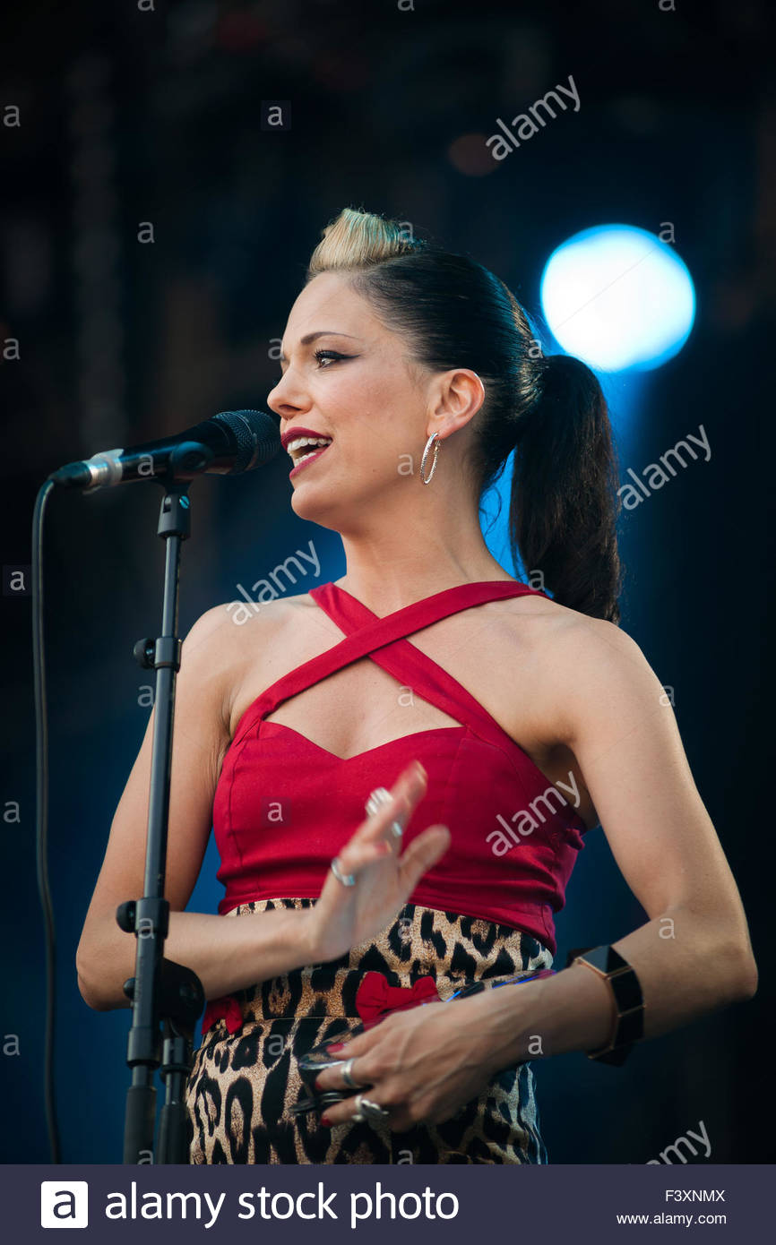 Imelda May performing live Stock Photo
