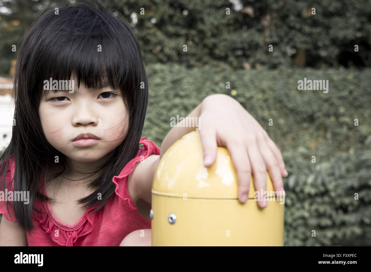 Abandon Girl - Stock Image