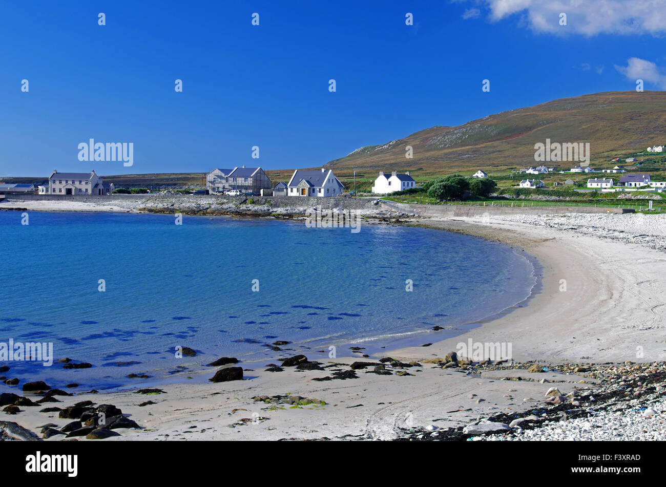 calm bay on achill island - Stock Image
