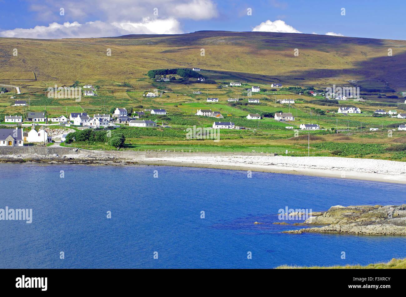 green Achill Island - Stock Image