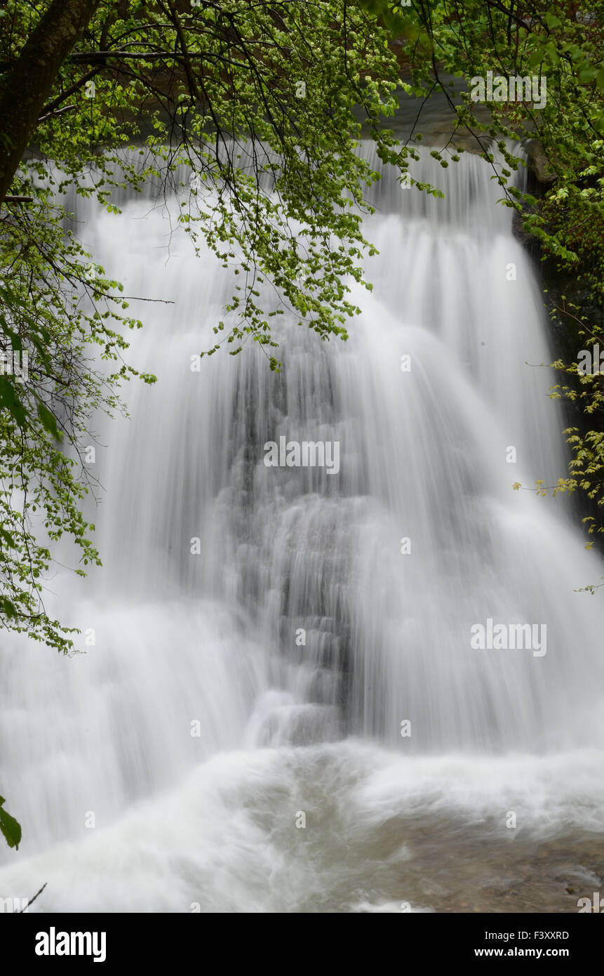 Waterfall at the Starzel - Stock Image