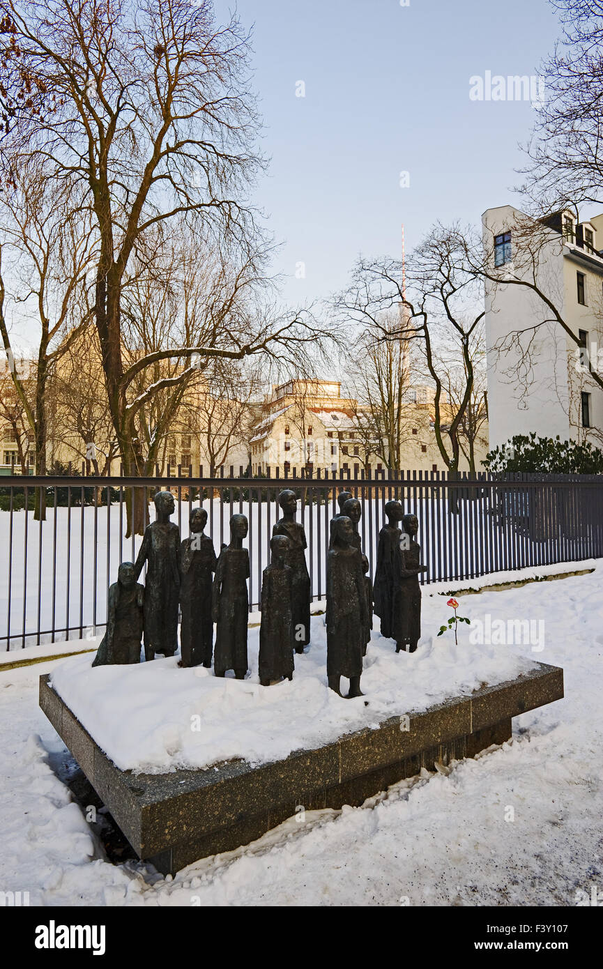 Sculpture at the Jewish Cemetery, Berlin Stock Photo
