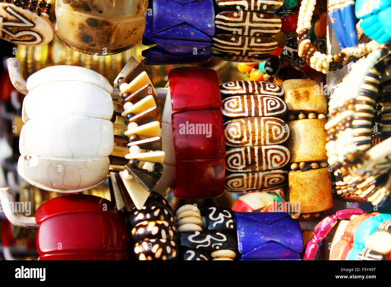 multi color bangles - Stock Image