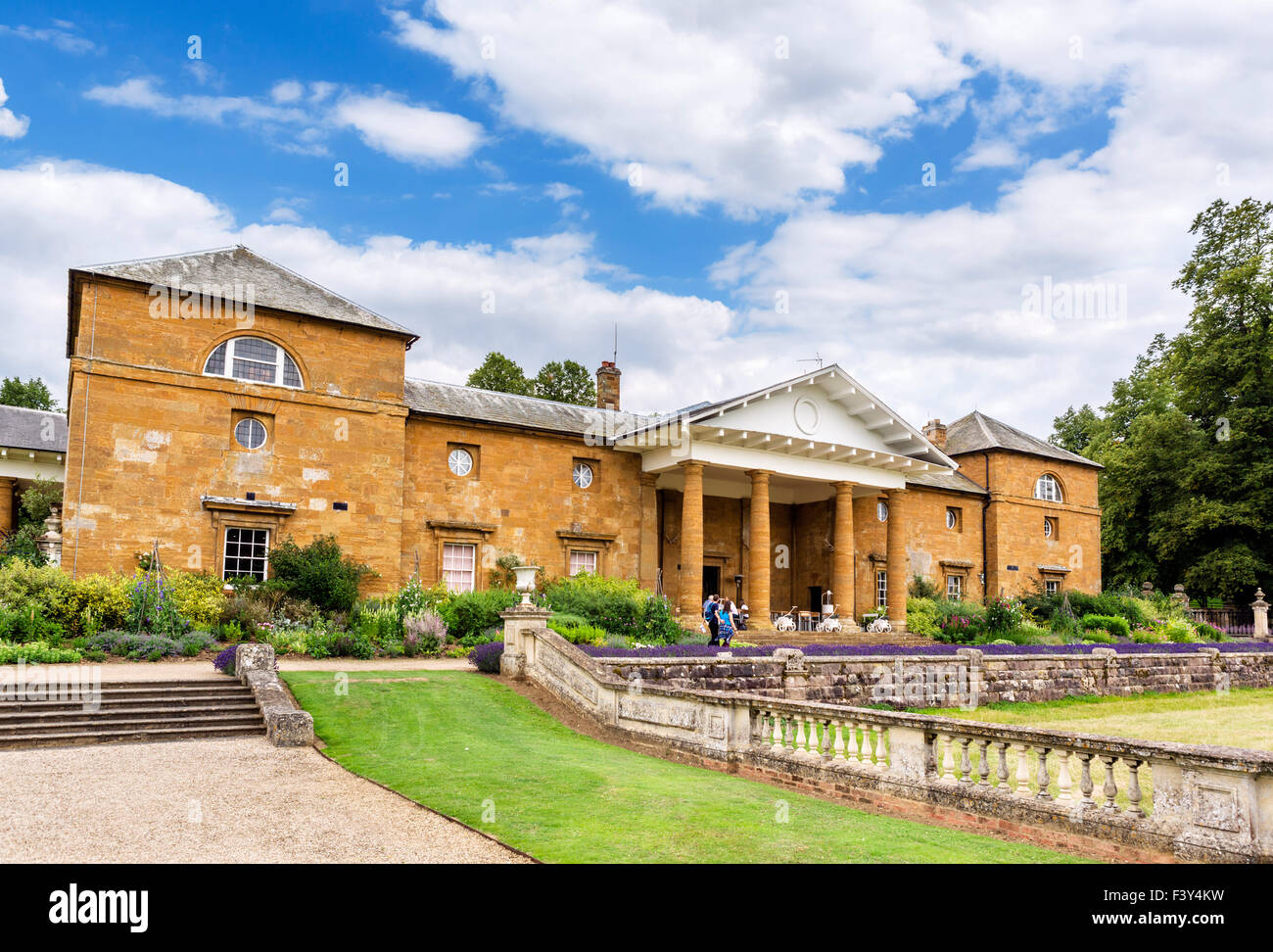 The Stables block, housing the cafe and Spencer Exhibition, Althorp house, Northamptonshire, England, UK - Stock Image