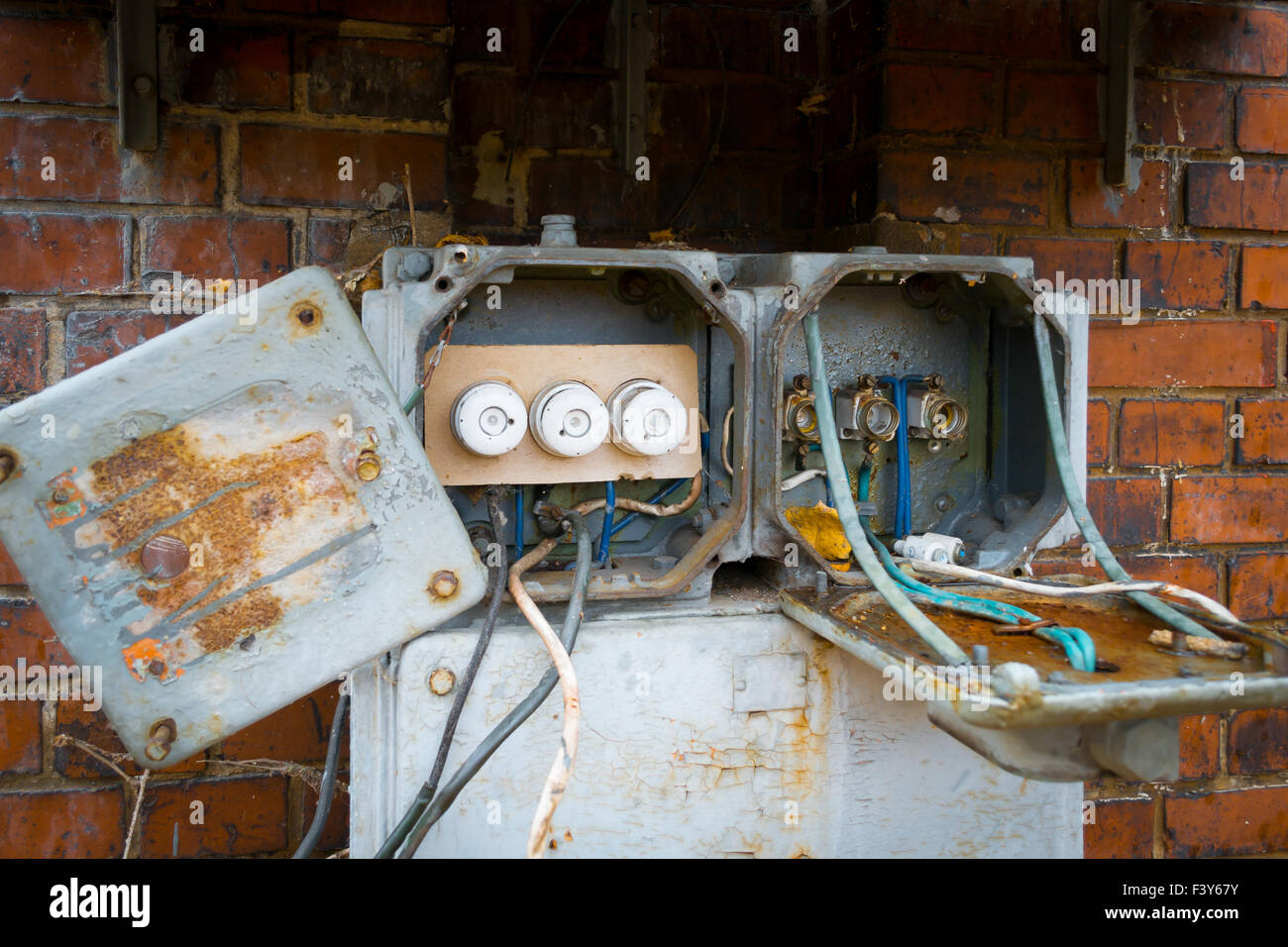 Electrical Fuse Box Rust Wiring Diagrams Old Boxes Stock Photos Details