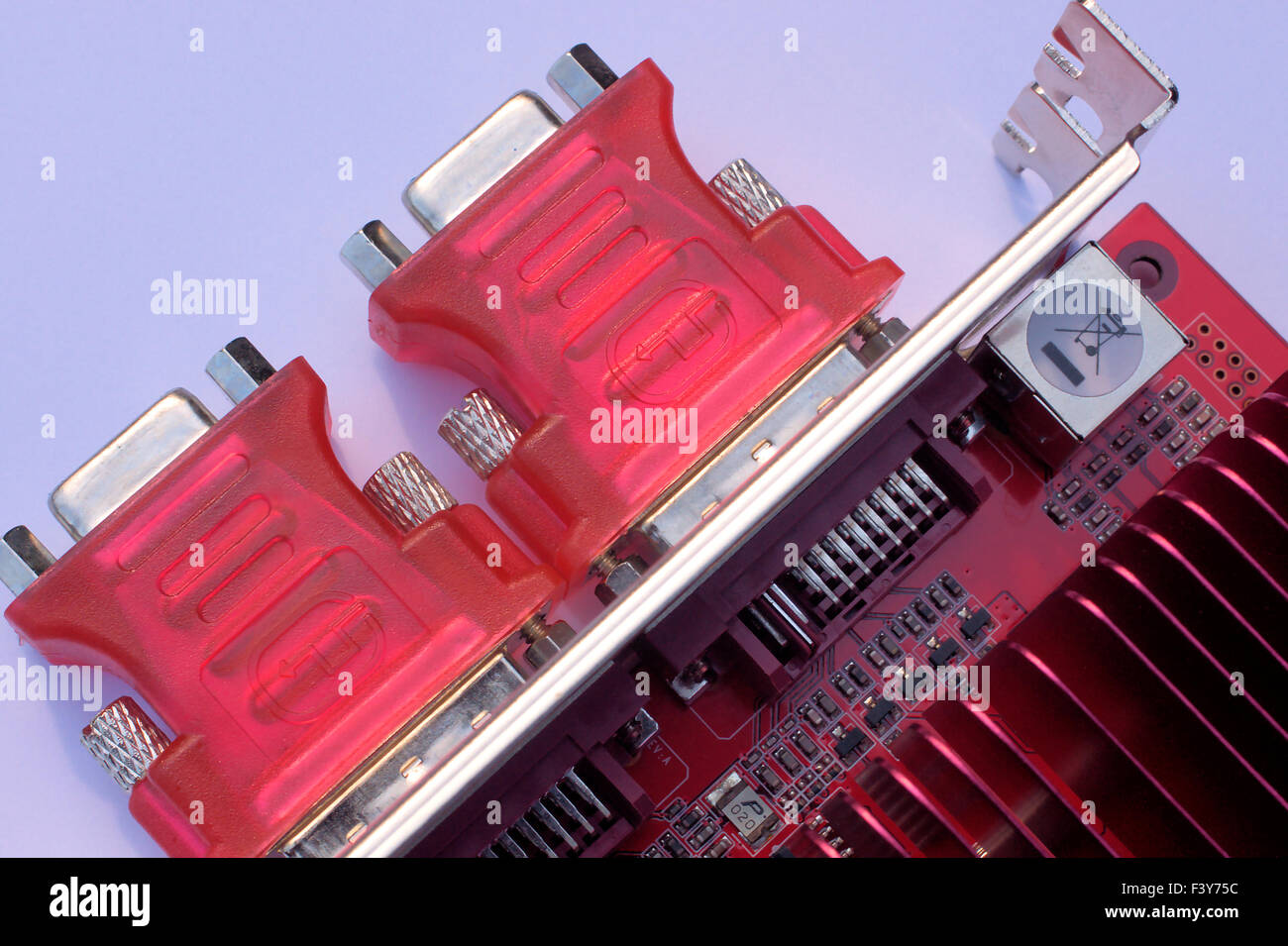 close-up picture of pc-hardware - Stock Image