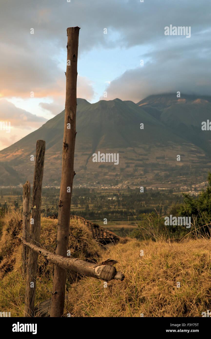 sundown at the Cotacachi-volcano, Ecuador Stock Photo