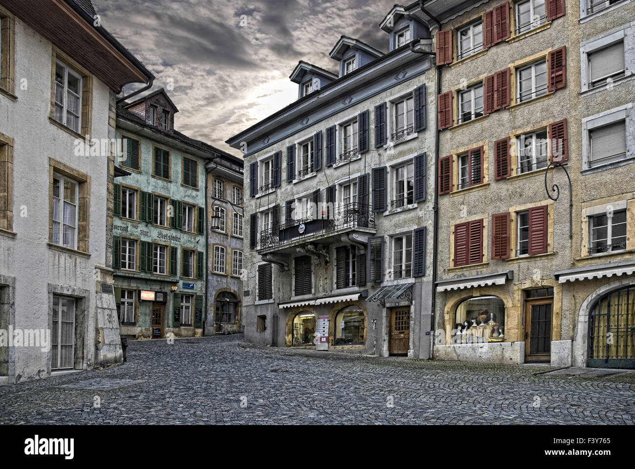 Bienne in switzerland - Stock Image