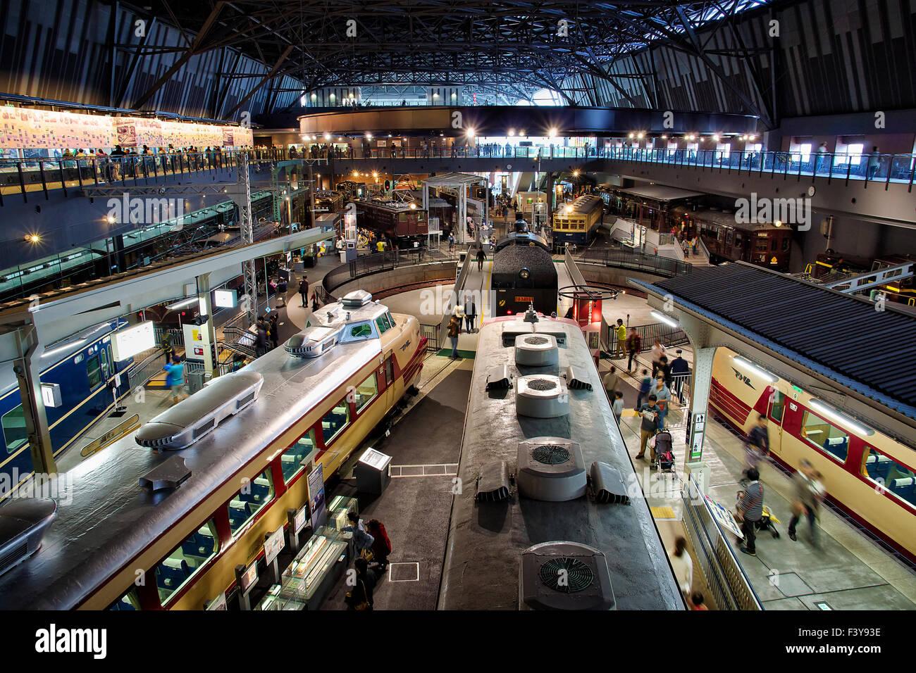 Japan, Honshu island, Kanto, Tokyo, train Museum. - Stock Image