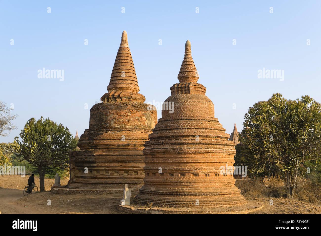 Stupas, Bagan, Myanmar, Asia Stock Photo