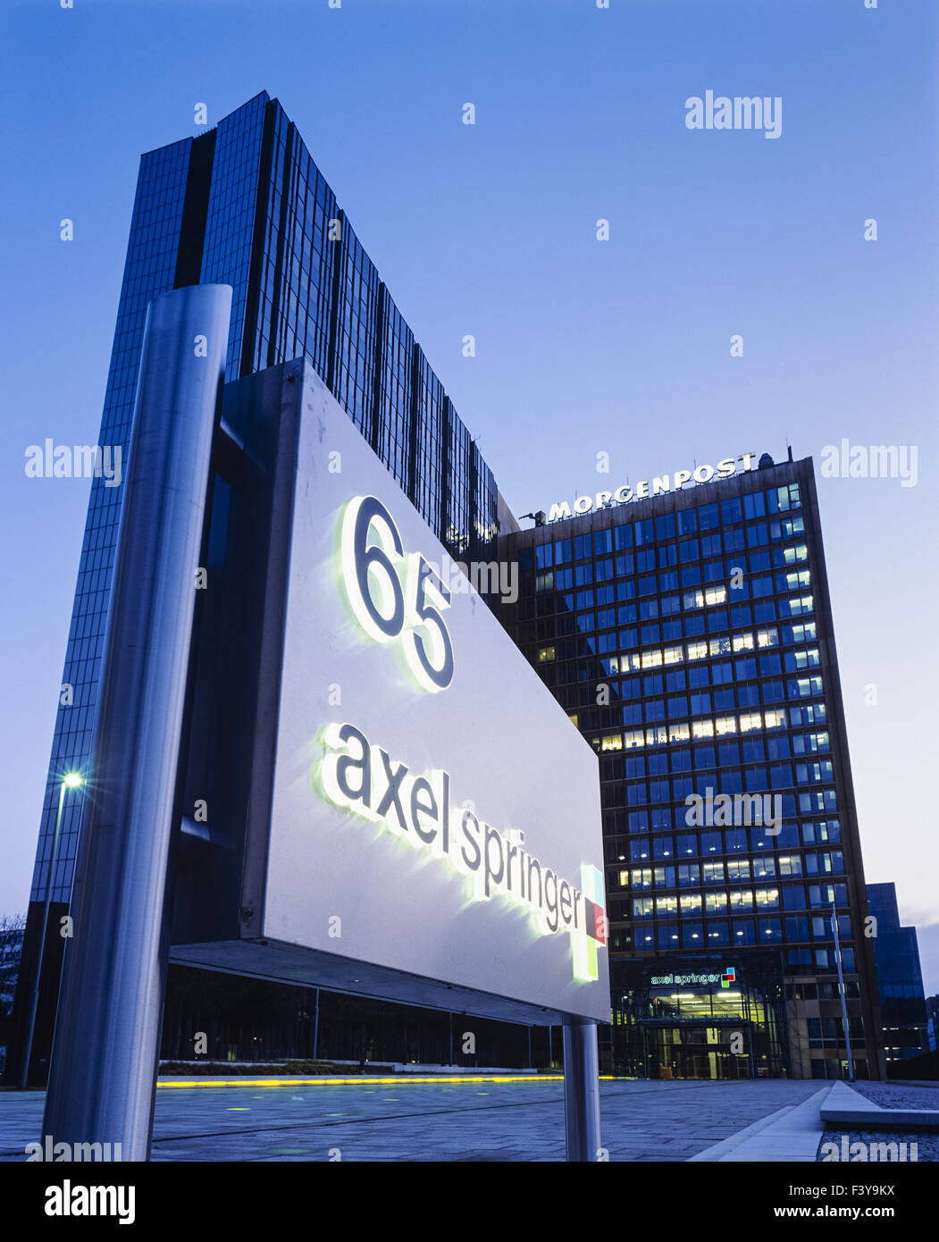 Axel Springer corporate headquarters, Berlin - Stock Image