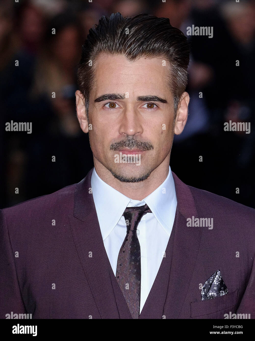London, UK. 13th October, 2015. Colin Farrell arrives on the red carpet for the London Film Festival screening of - Stock Image