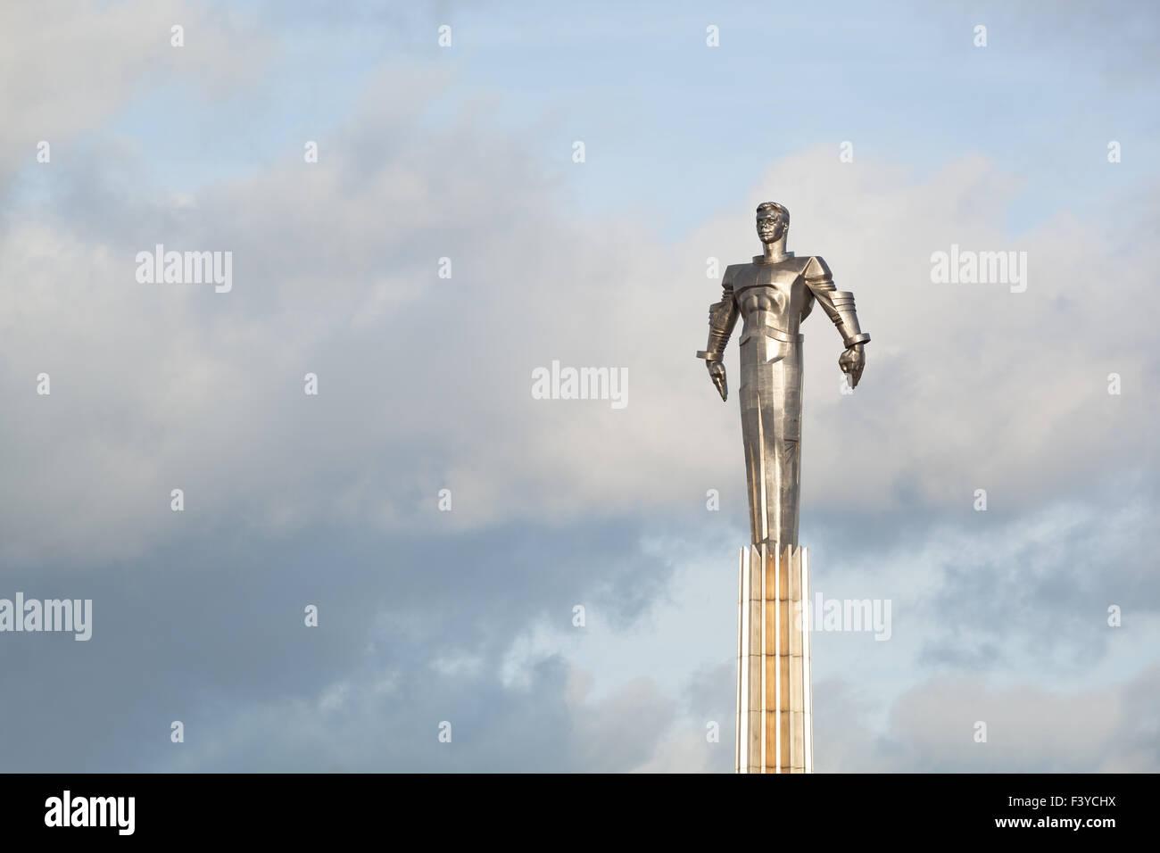 Yuri Gagarin monument - Stock Image