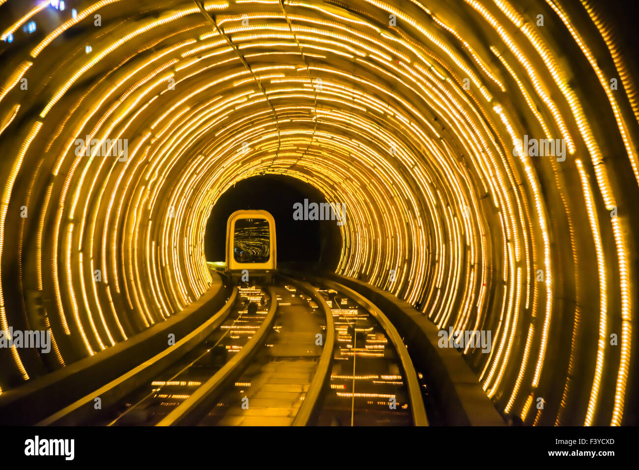 Shanghai Bund Tunnel underneath Huangpu river Stock Photo