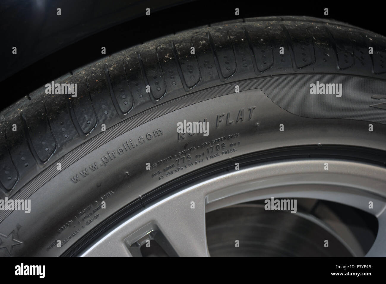 Run flat tyre stock photos run flat tyre stock images alamy the top of a run flat tyre fitted to the alloy wheels of a modern bmw thecheapjerseys Choice Image