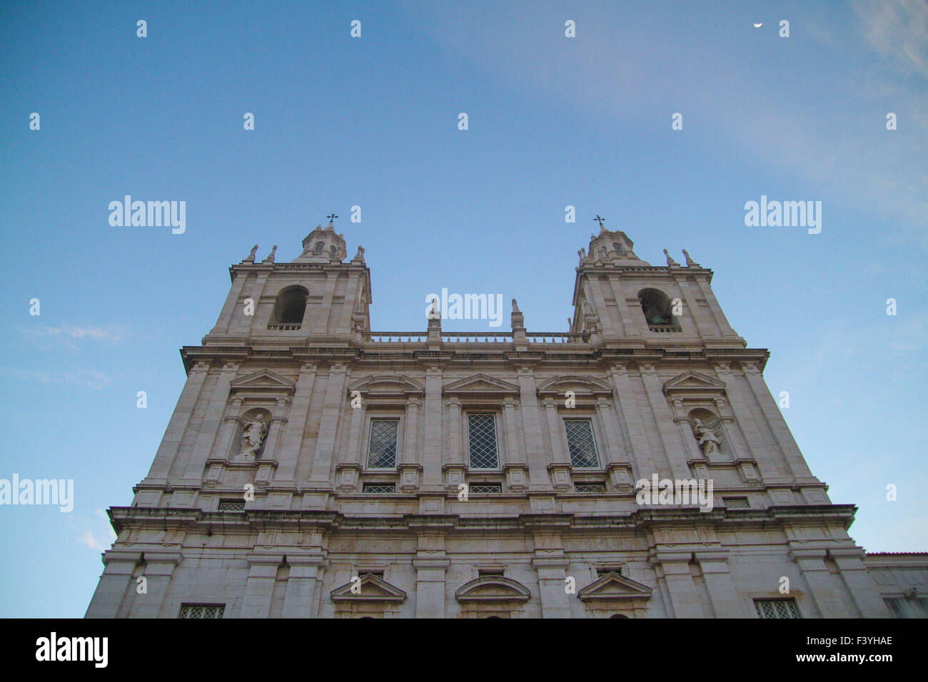 ​Lisbon, Portugal, 6 October, 2015. Front facade of the Church of São Vicente of Fora in the Alfama disitrict - Stock Image