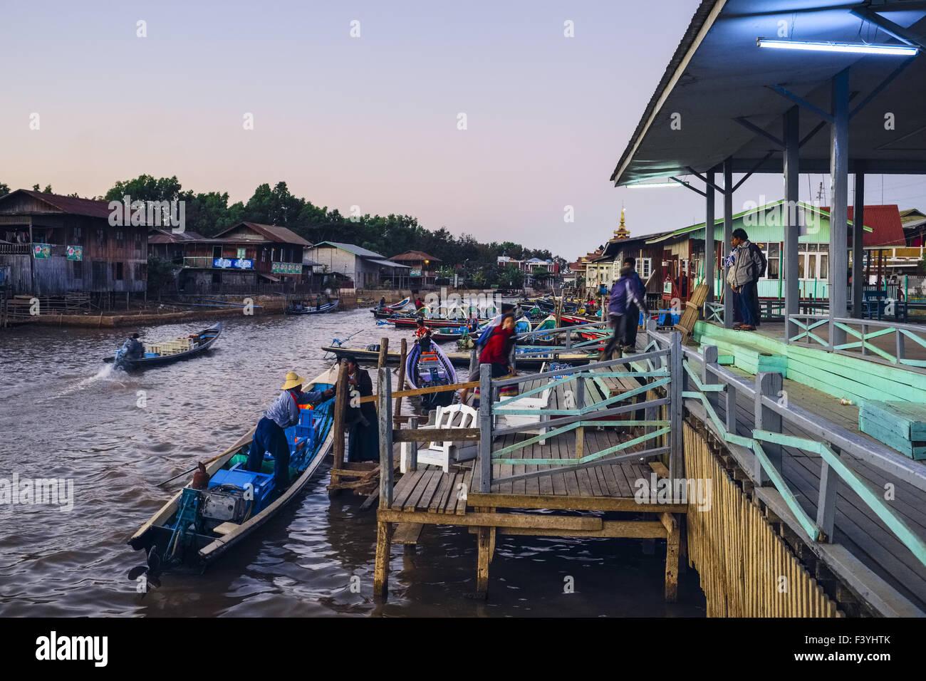 Jetty, Nyaung Shwe, Myanmar, Asia Stock Photo: 88502531 - Alamy