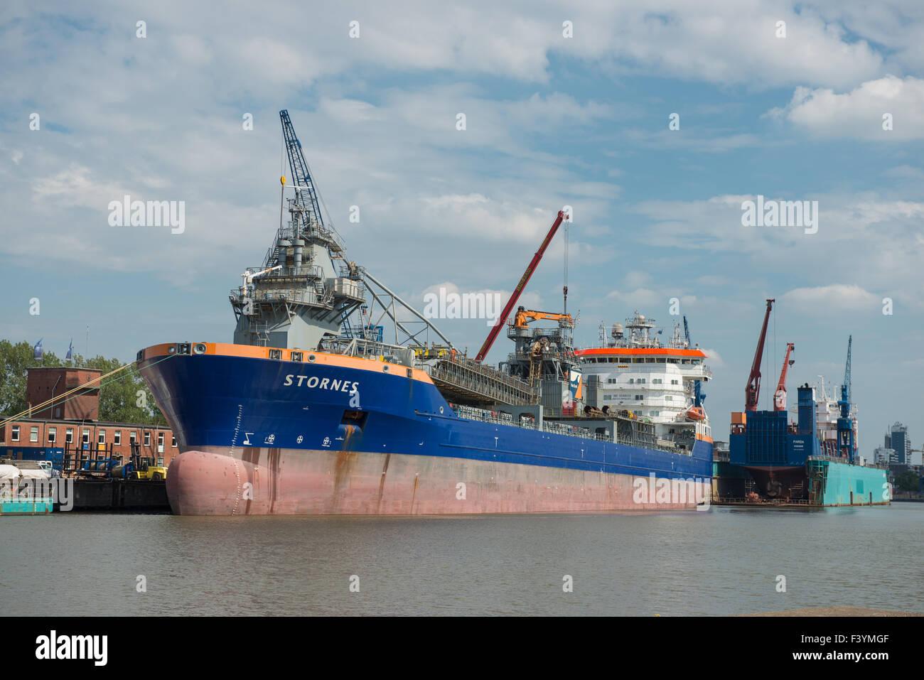 Fallpipe vessel Stornes - Stock Image
