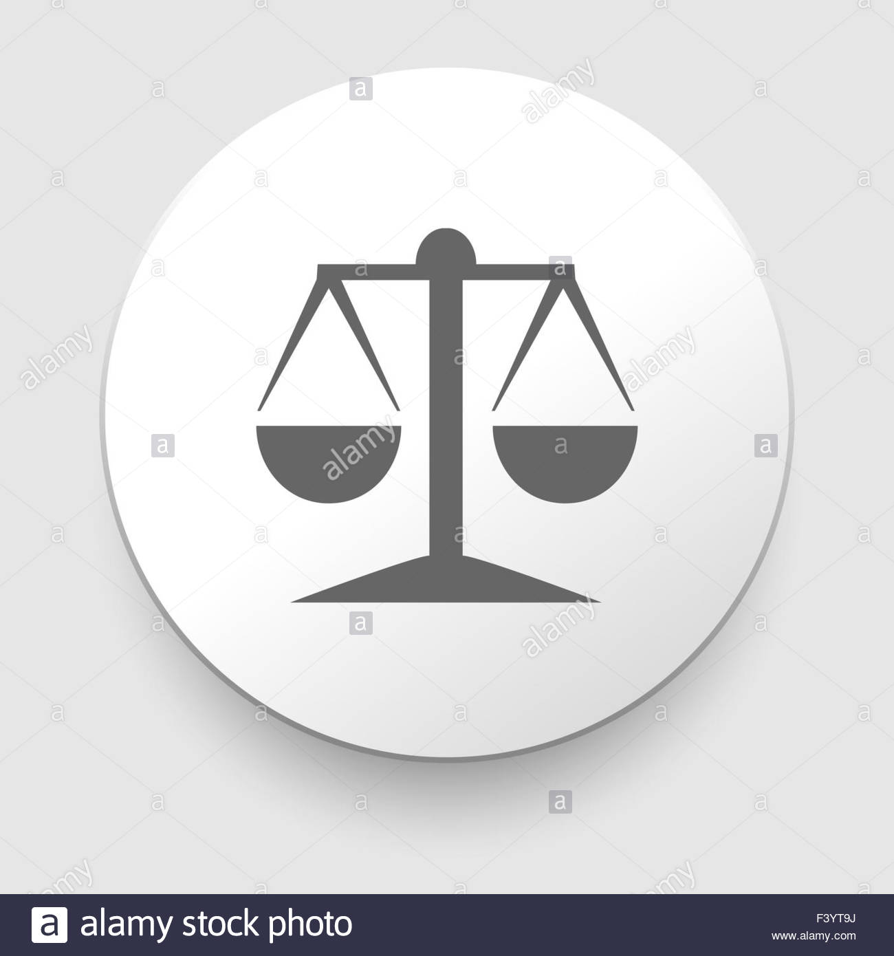 Vector icon of justice scales - Stock Image