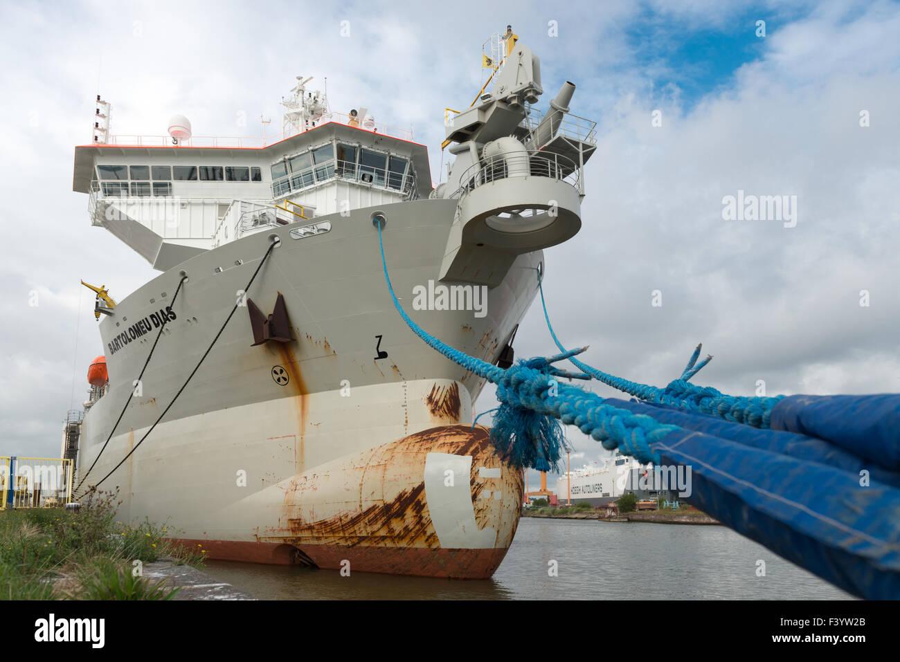 Dredger Bartolomeu Dias - Stock Image