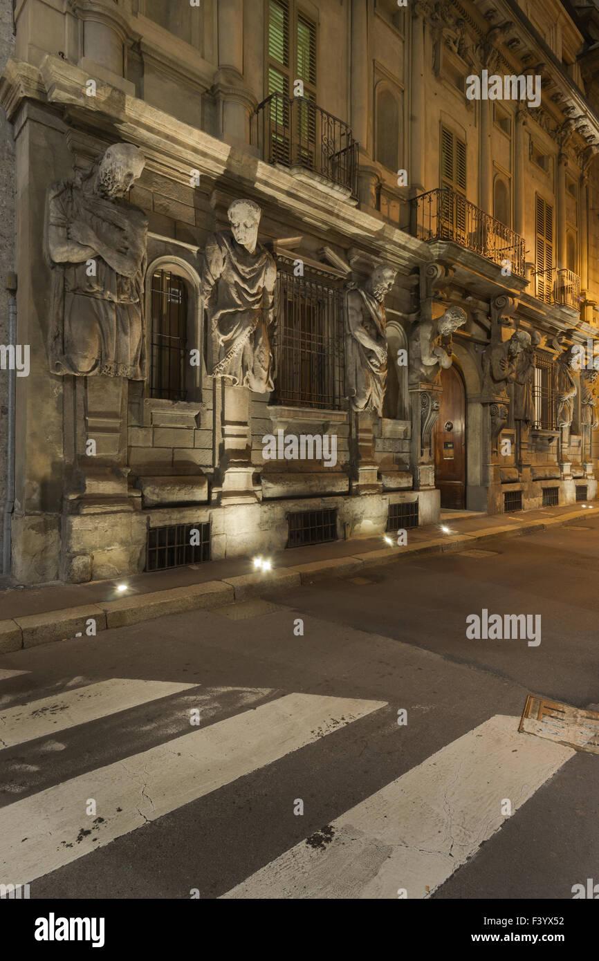 Casa degli Omenoni, Milan - Stock Image