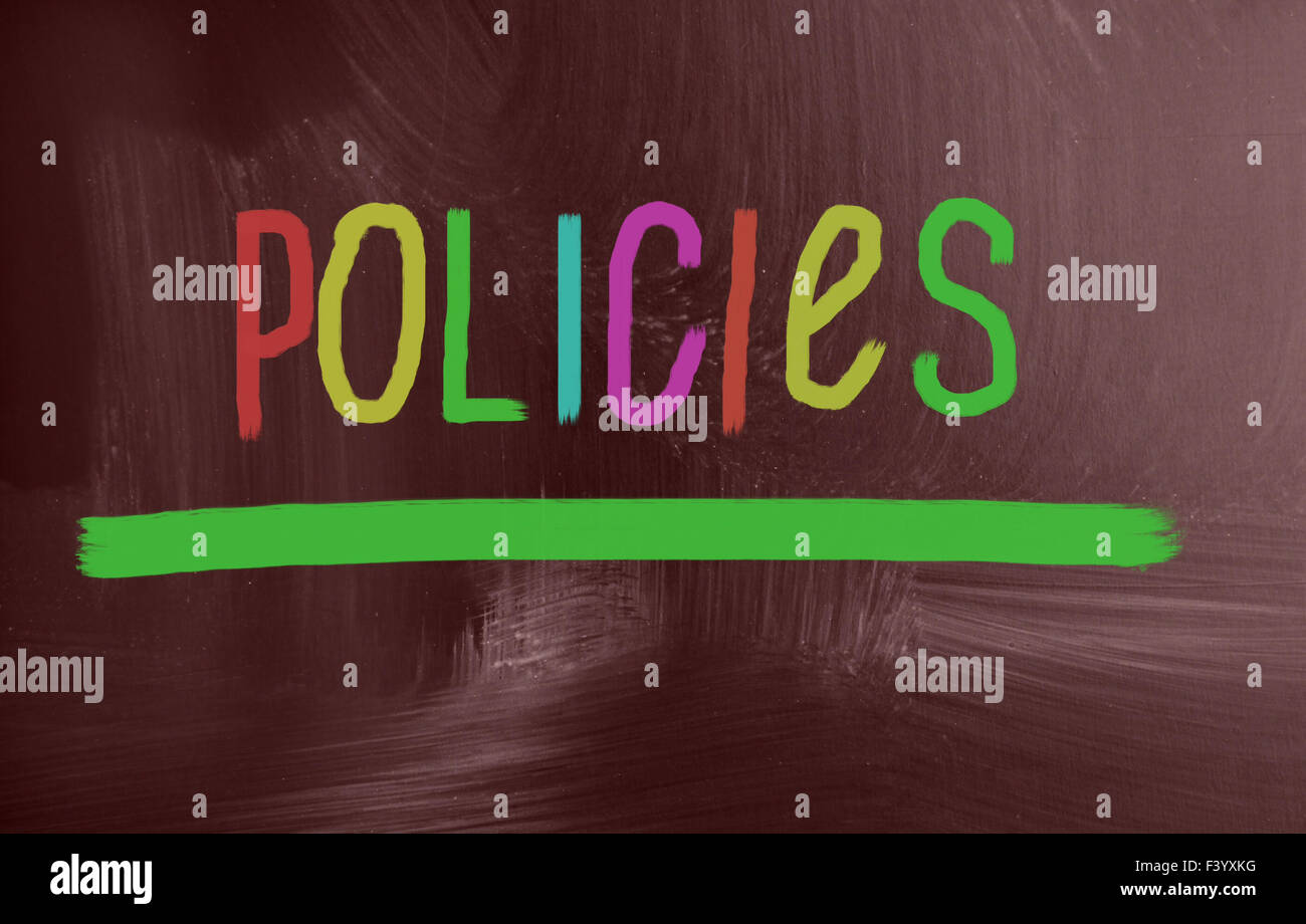 policies concept - Stock Image