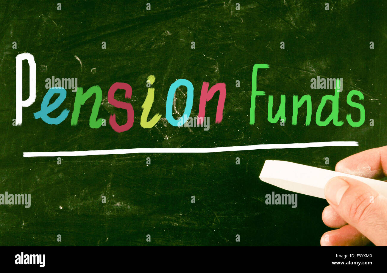 pension funds concept - Stock Image