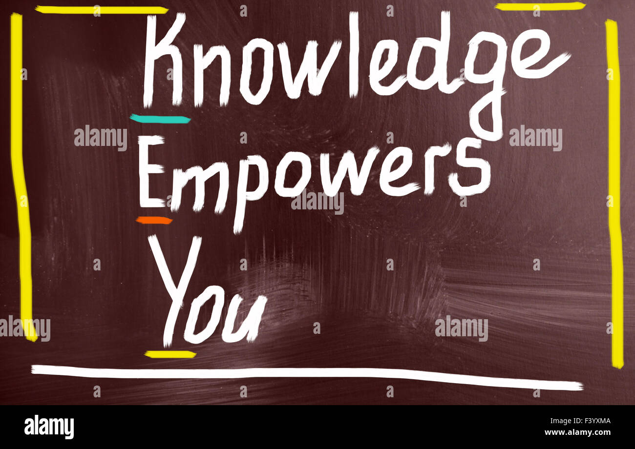 knowledge empowers you concept - Stock Image