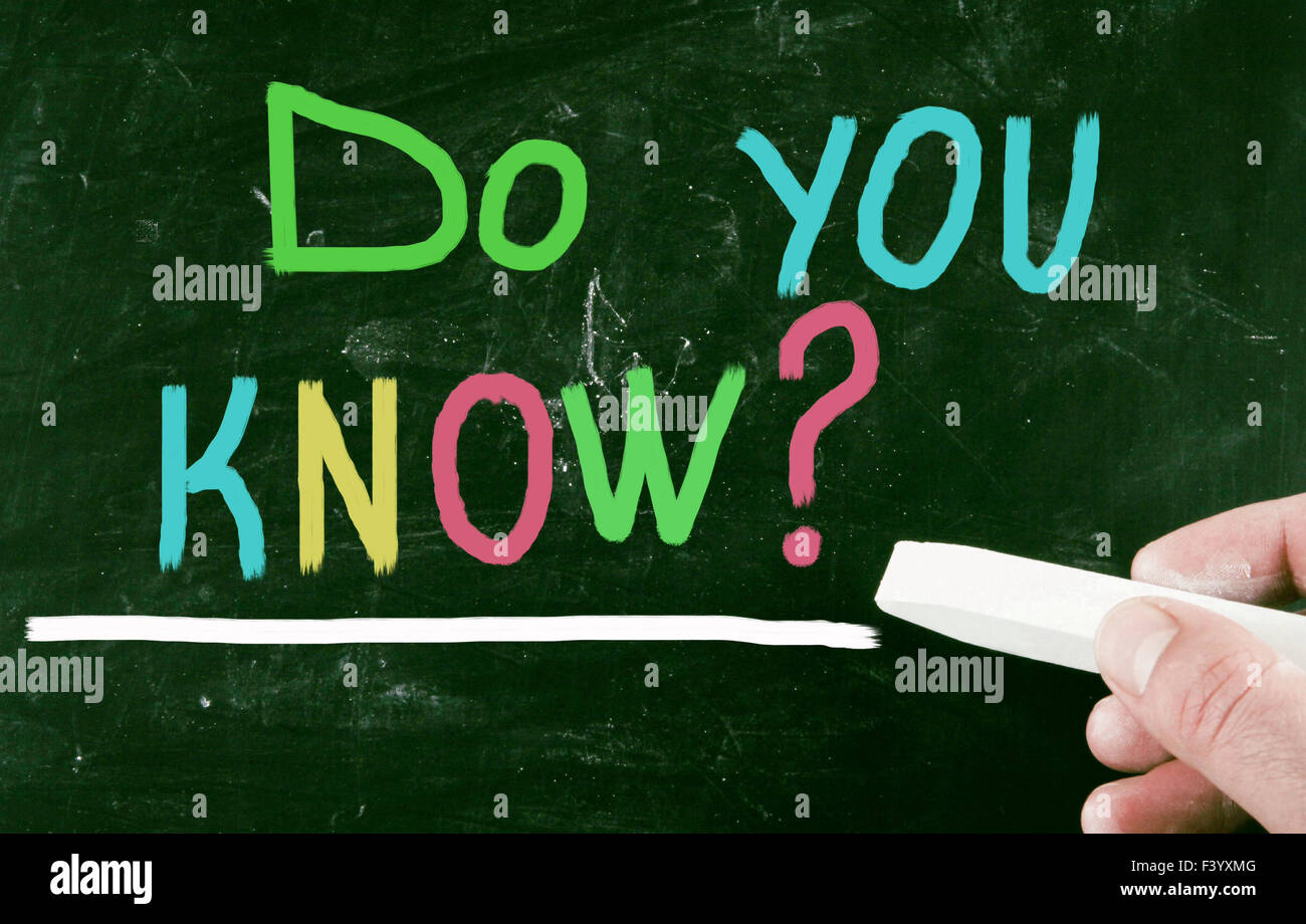 do you know? - Stock Image