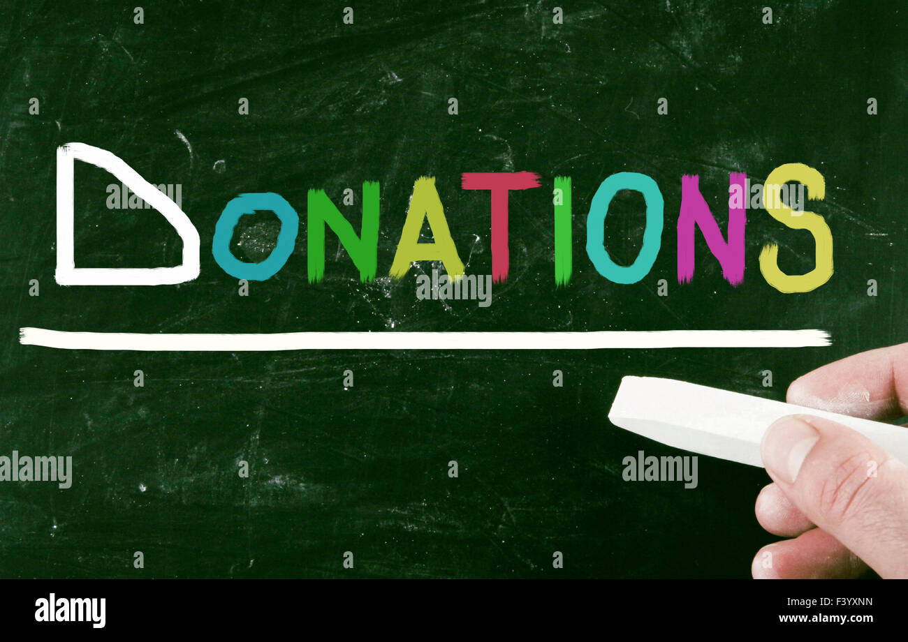 donations concept - Stock Image