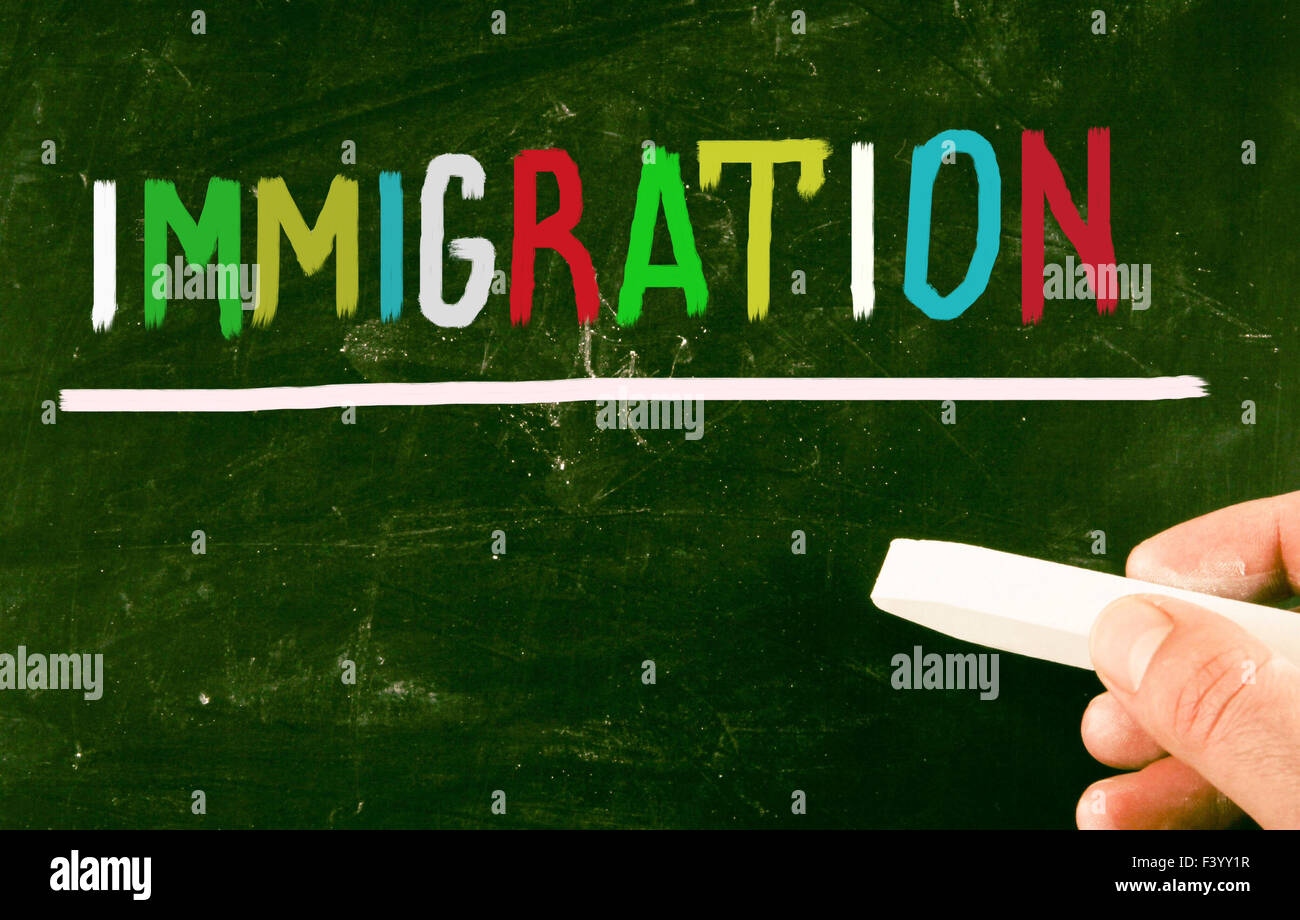 immigration concept - Stock Image