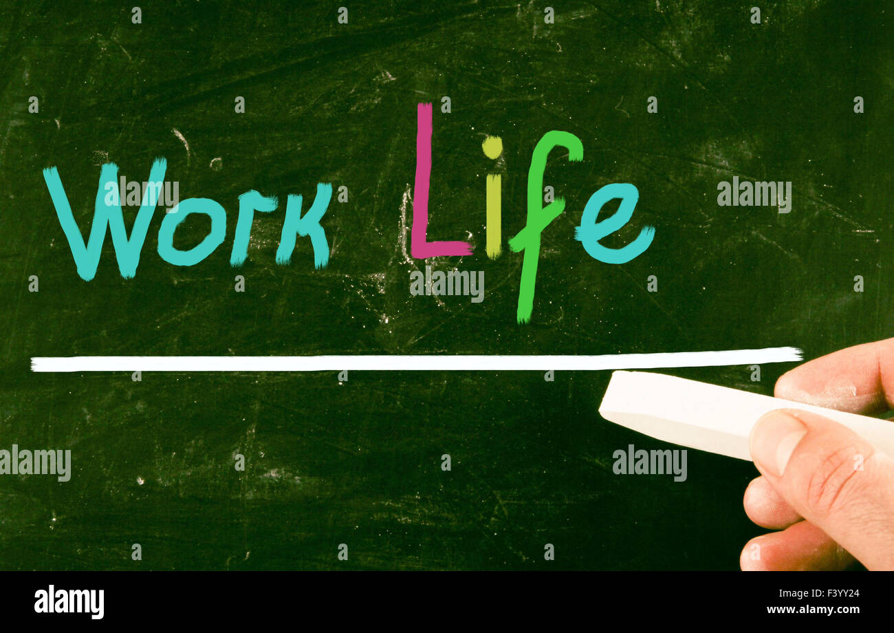 work life concept - Stock Image
