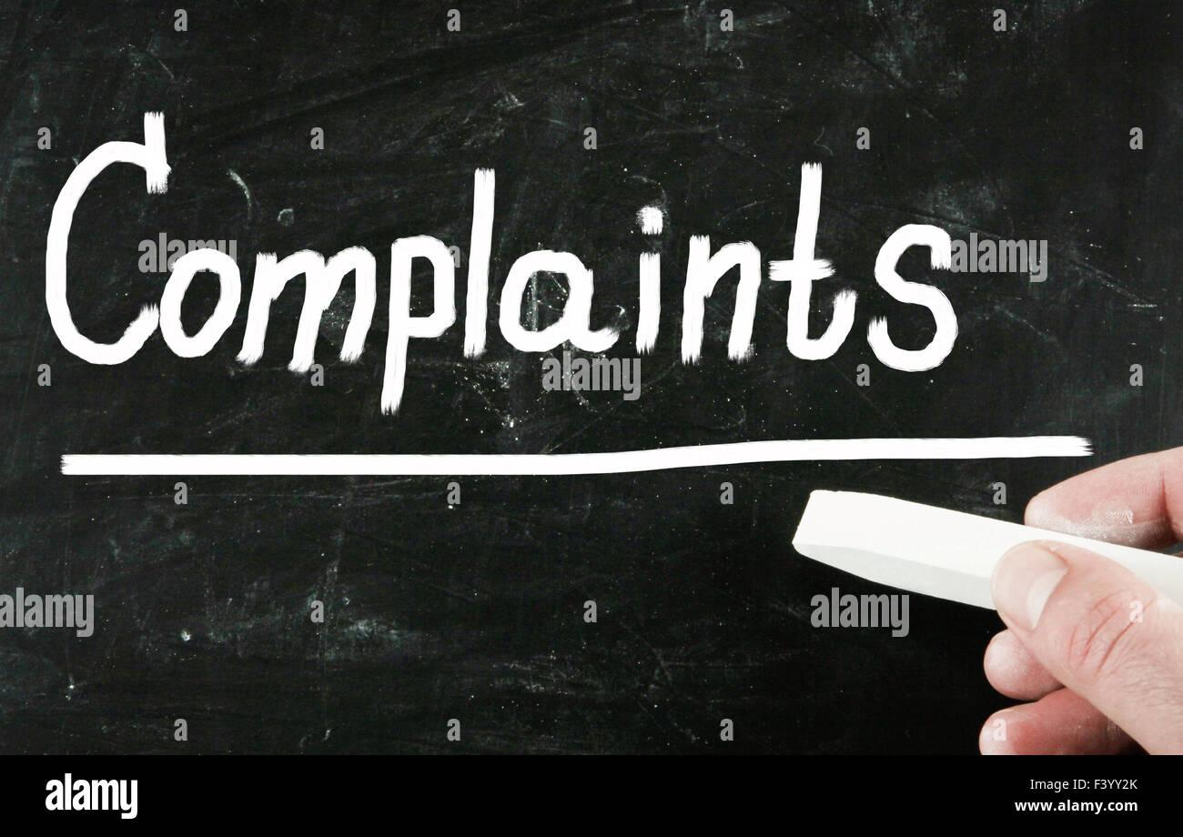 complaints concept - Stock Image