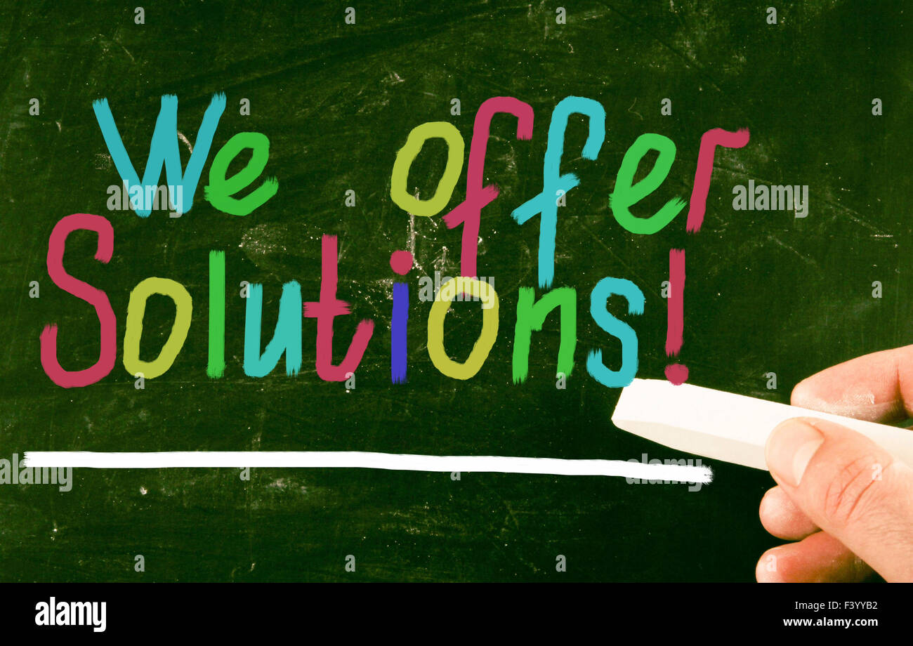 we offer solutions! - Stock Image