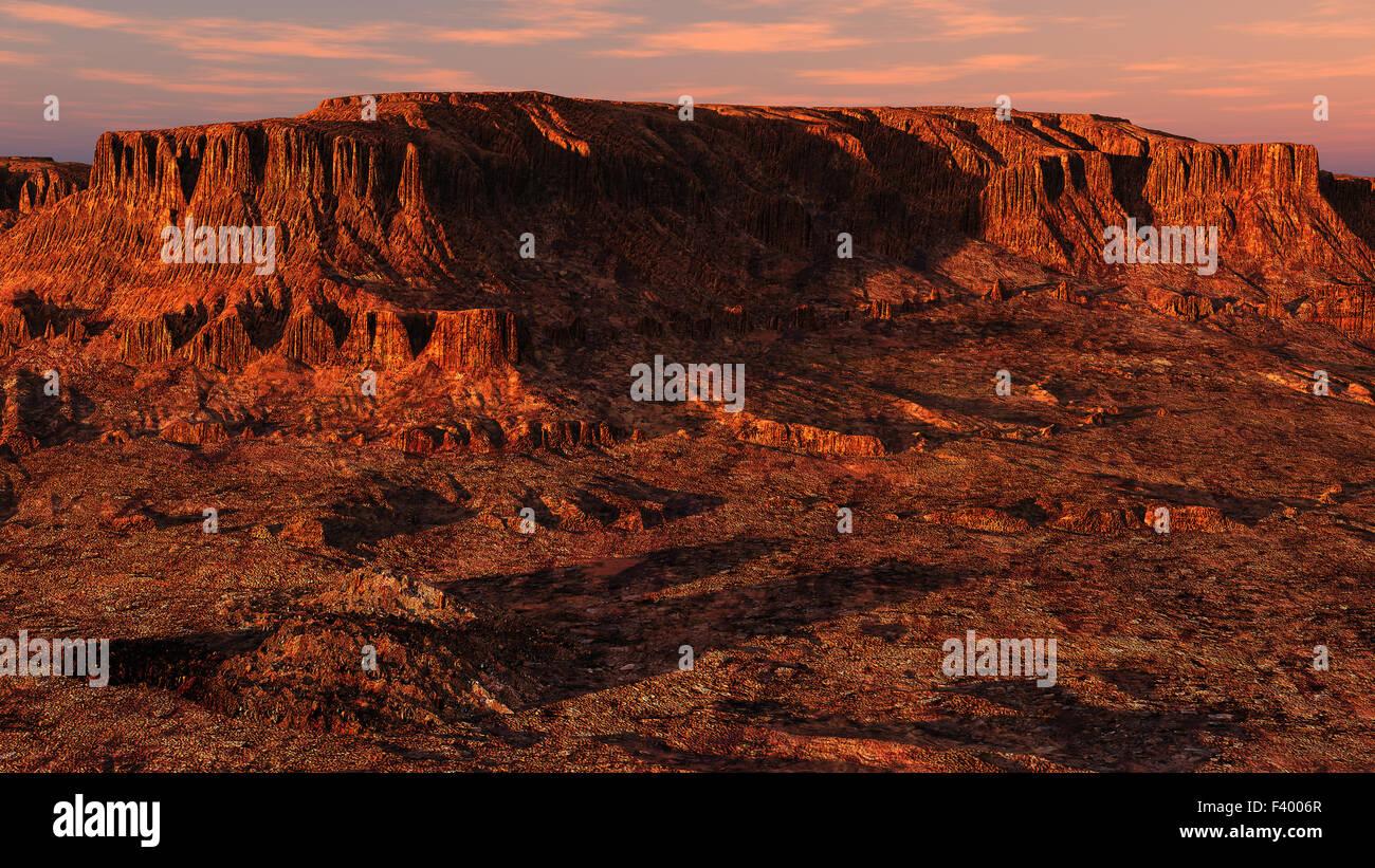 Wadi Rum, Jordania, evening - Stock Image