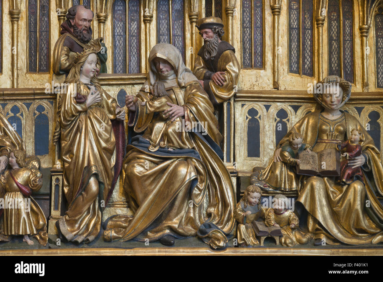 Clan altar Elisabeth Church Marburg - Stock Image