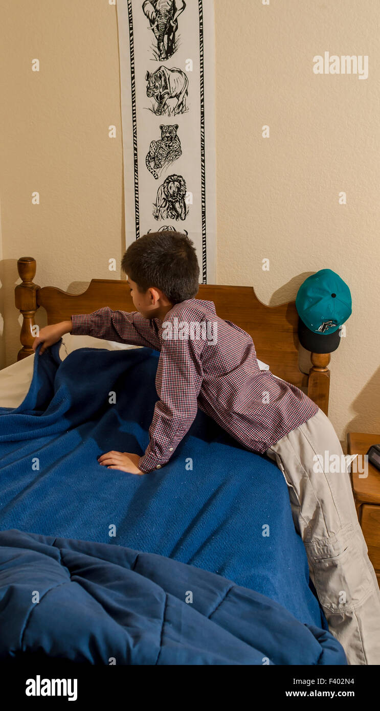 multi ethnic inter racial diversity racially diverse multicultural multi cultural interracial boy 7-10 year old - Stock Image
